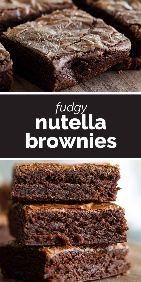 Fudgy Nutella Brownies Recipe Nutella Brownies Nutella