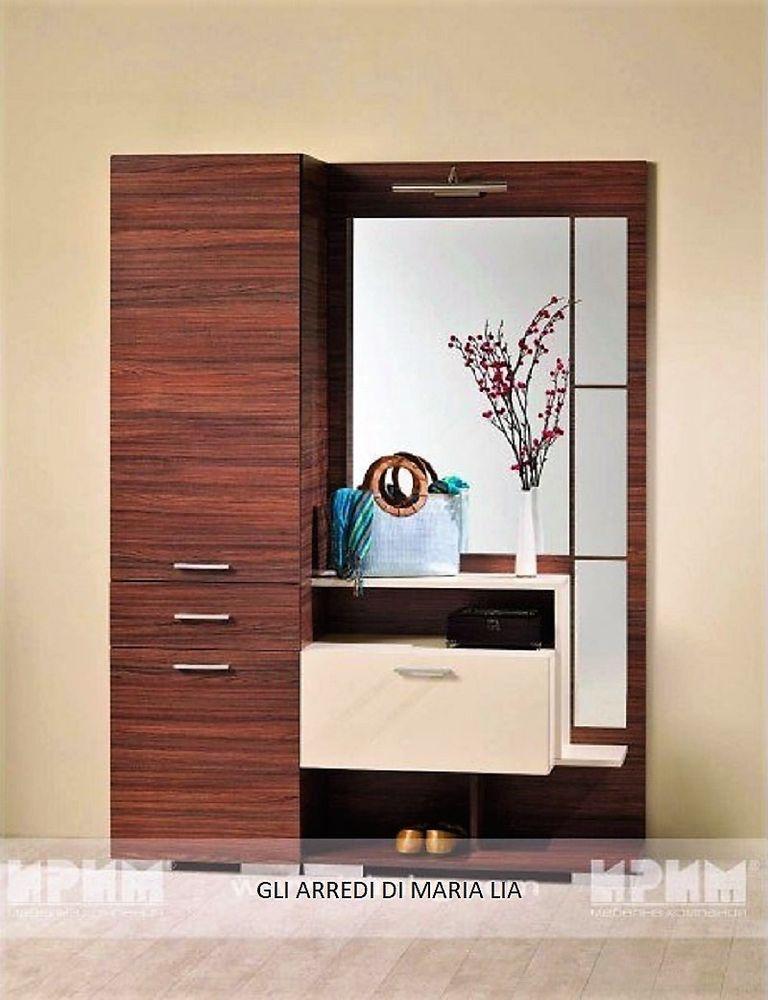Appendiabiti Casa.Mobile Ingresso Design Moderno Avignone Con Specchio E Armadio Con
