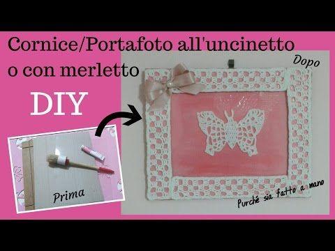 DIY Cornice/Portafoto SHABBY CHIC o con