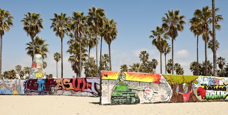 Art Walls On Venice Beach Los Angeles California Usa Sponsored Venice Beach Art Walls California Ad Images Of California Wall Art Venice Beach