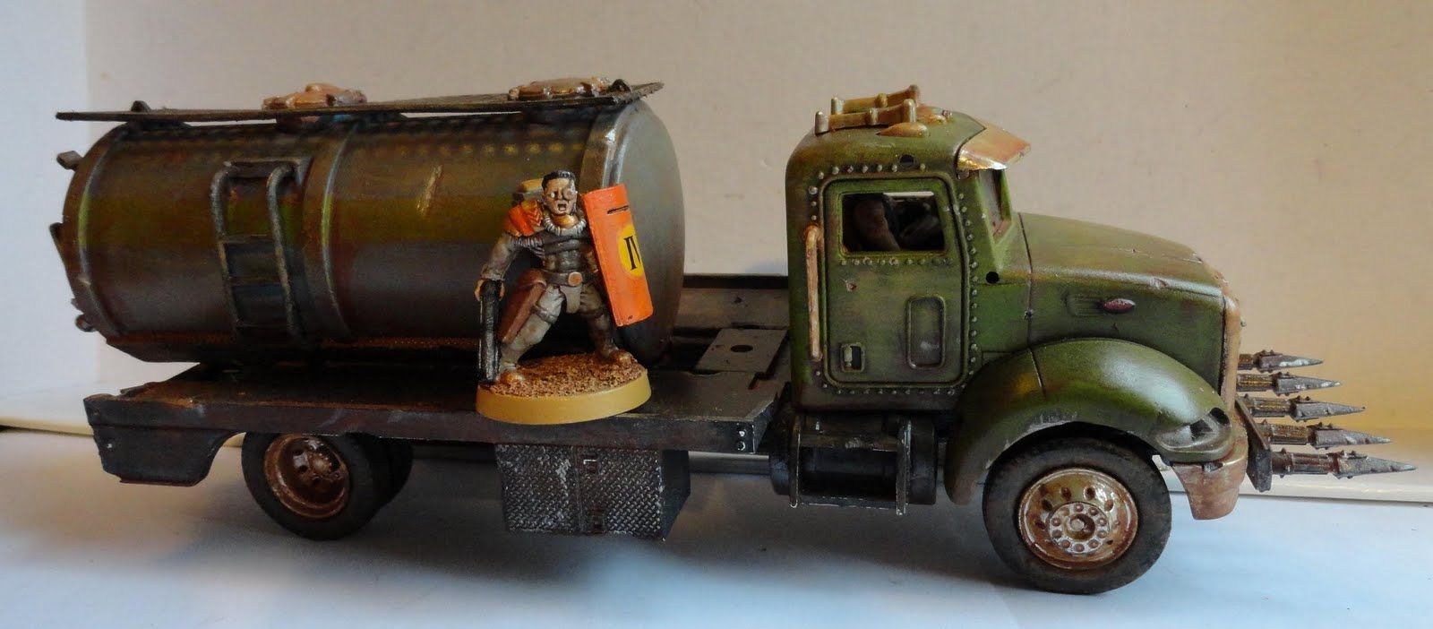 Chicago skirmish wargames 28mm on the cheap post apocalyptic vehicles before and