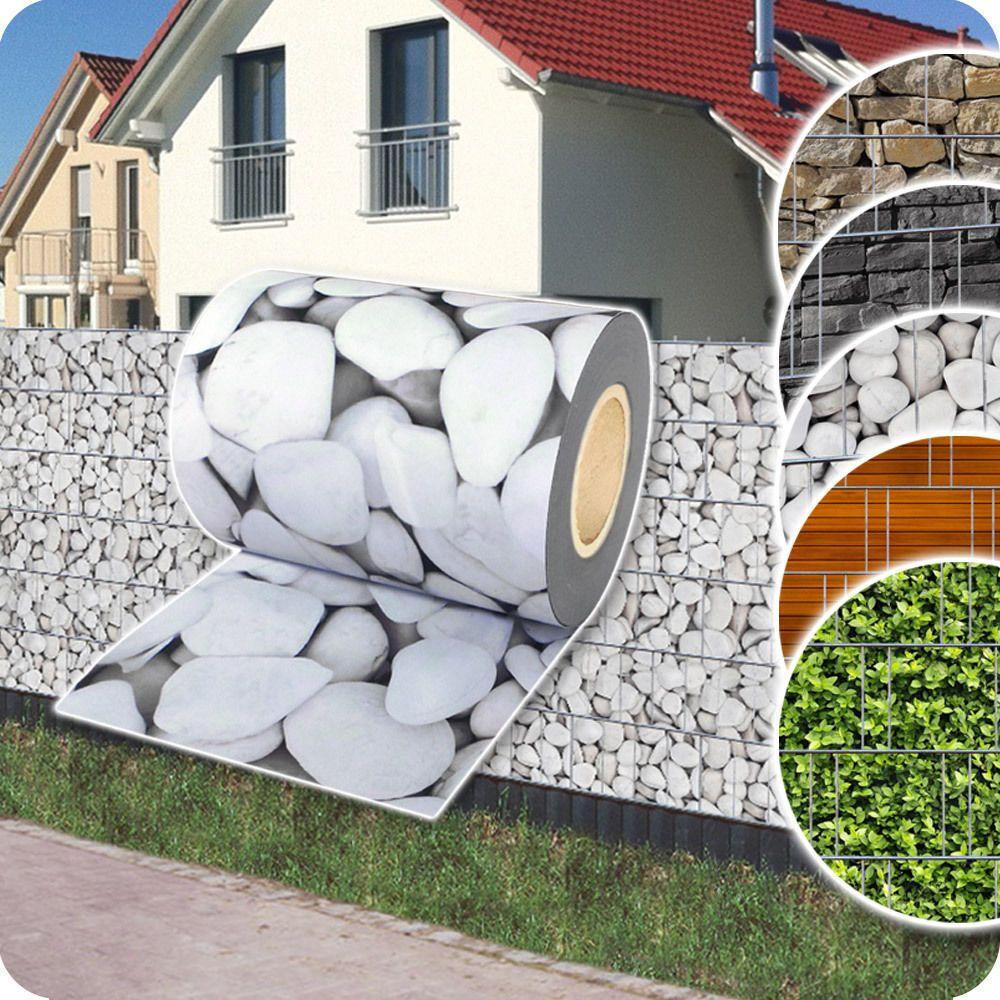 35m sichtschutz zaunfolie doppelstabmatten zaun stabmatten for Sichtschutz stabmattenzaun