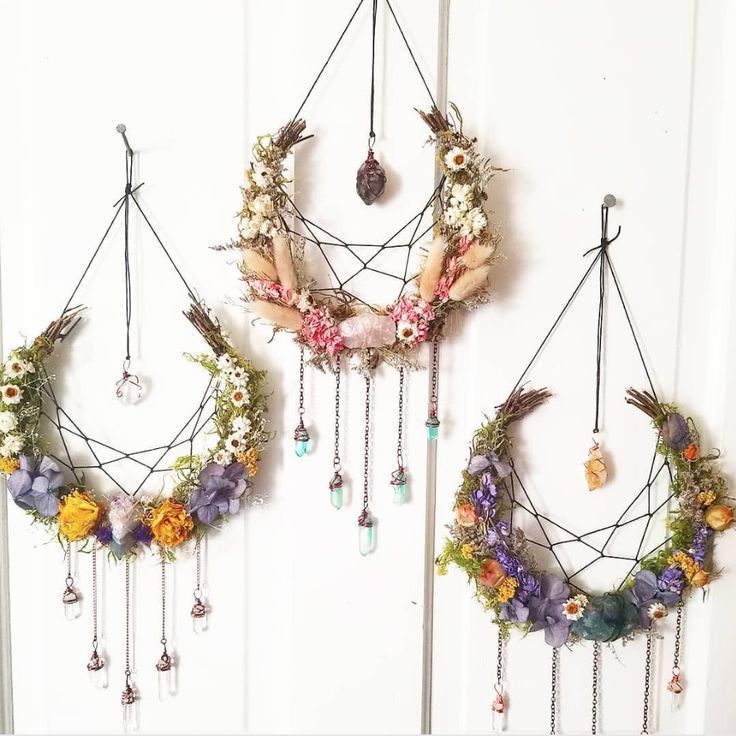 Photo of Lunar Goddess Wreaths – Gothic Bohemian Halloween Decor – Photos
