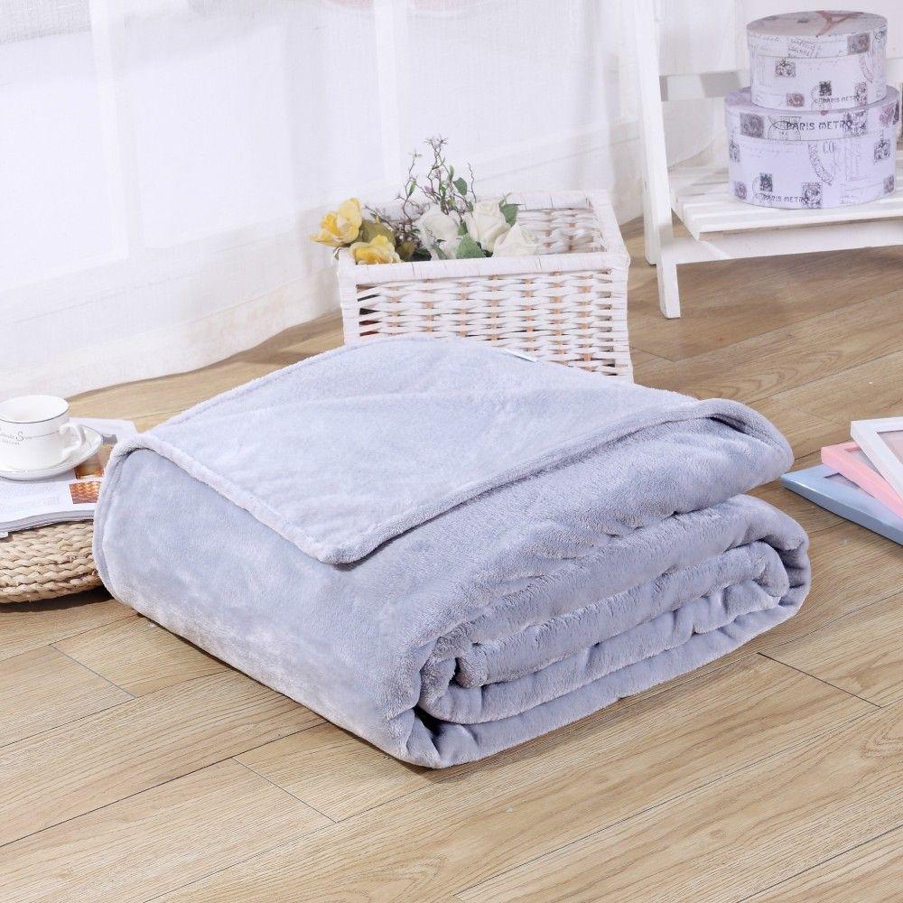 Bedding Throws Flannel Blanket Winter Warm  Soft Bedsheet