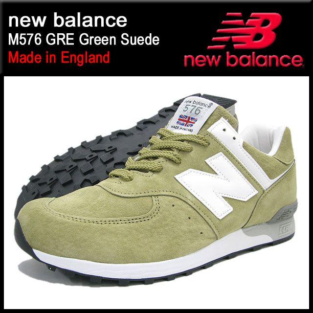 8cd283c293970 【楽天市場】【送料無料】ニューバランス new balance スニーカー M576 GRE Green スエード