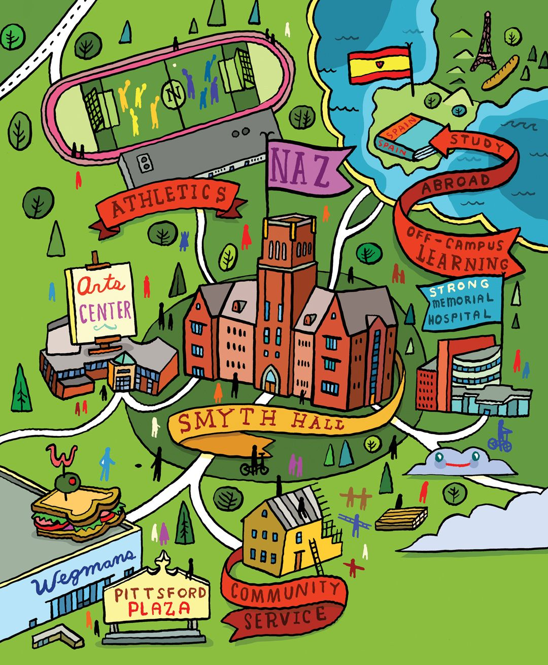 nazareth college campus map Nazareth College Maps Illustrated Map Campus Map Nazareth College nazareth college campus map