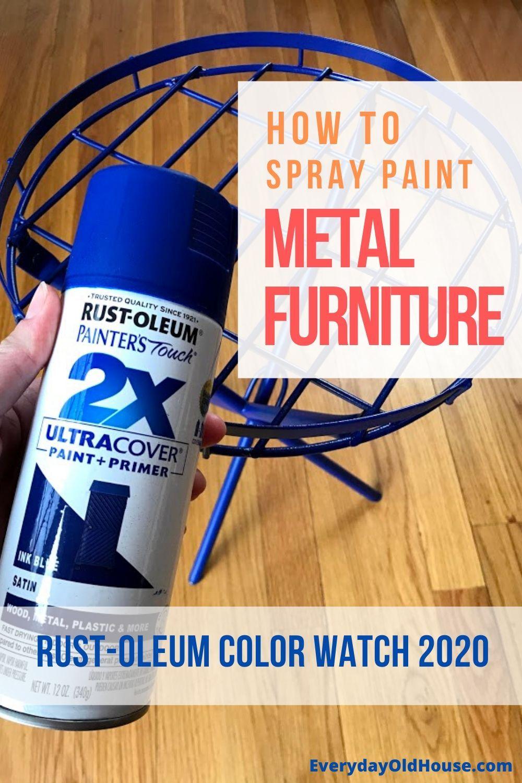 How to rejuvenate metal outdoor furniture using rustoleum