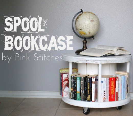 Pink Sches Spool Bookcase Tutorial Here Is What You Ll Need To Make Your Own A Small Cable Wooden Dowels 3 4 Casters Swivel Wheels