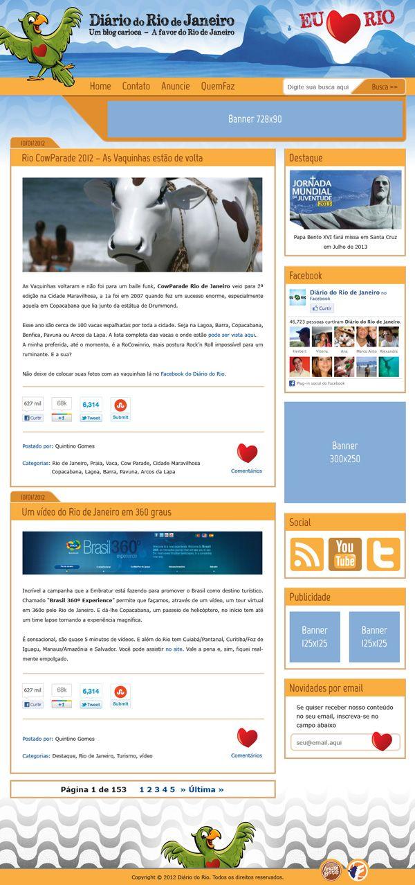 """Layout do Blog """"Diário do Rio de Janeiro"""""""