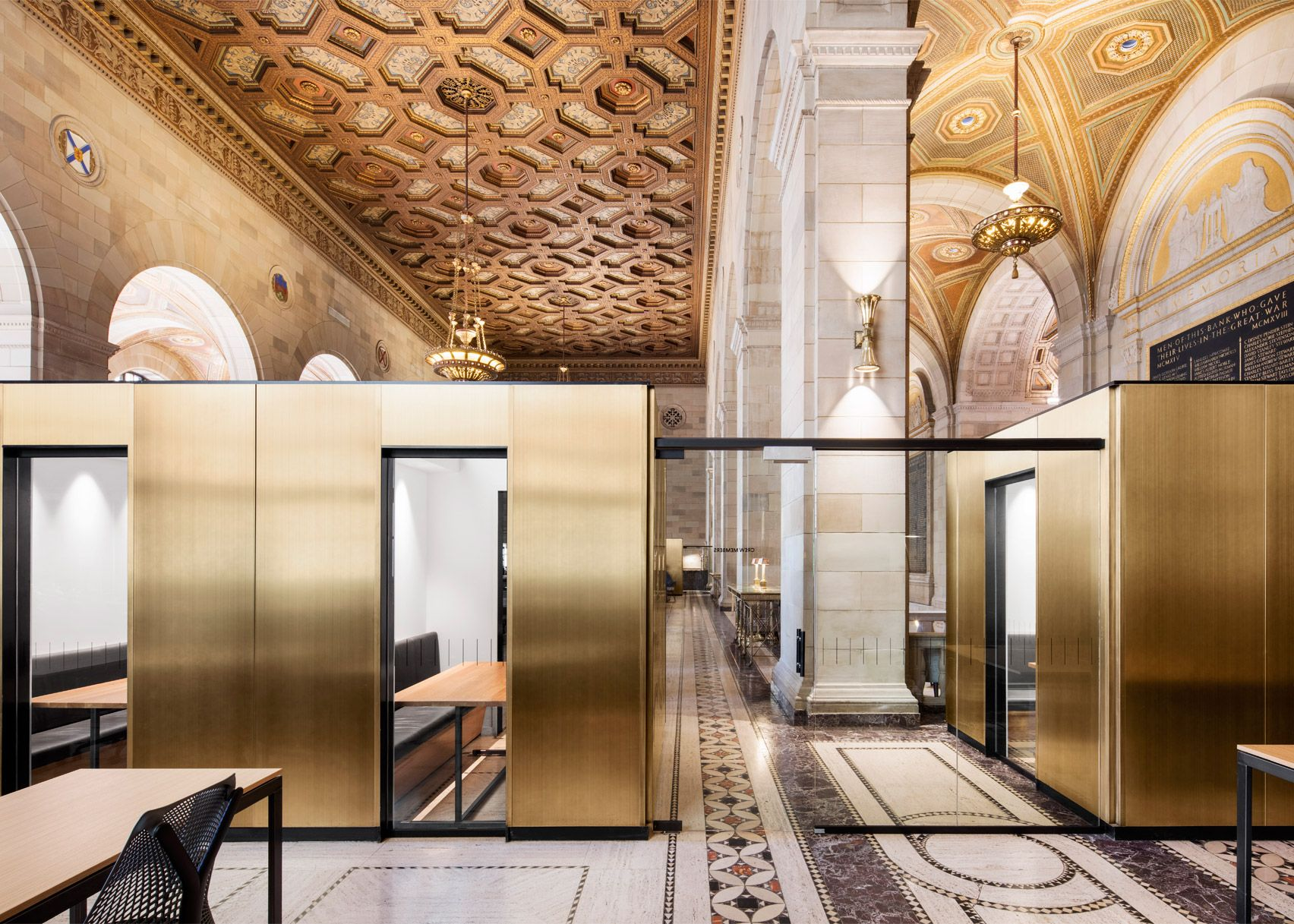 bank and office interiors. Henri Cleinge Adapts Grand Montreal Bank For Crew Offices And Cafe Office Interiors