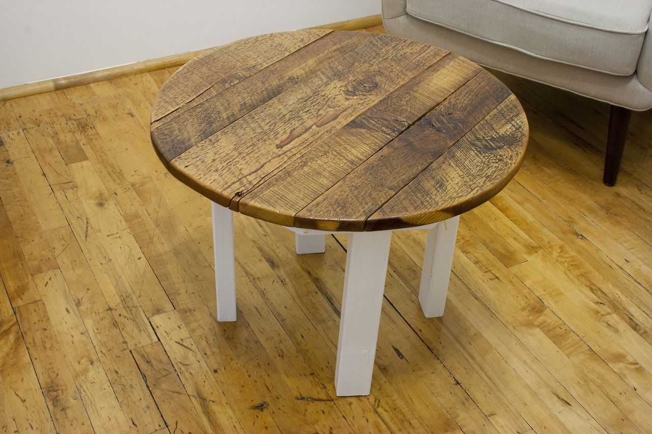 pine coffee table. Reclaimed Yellow Pine Round Coffee Table M