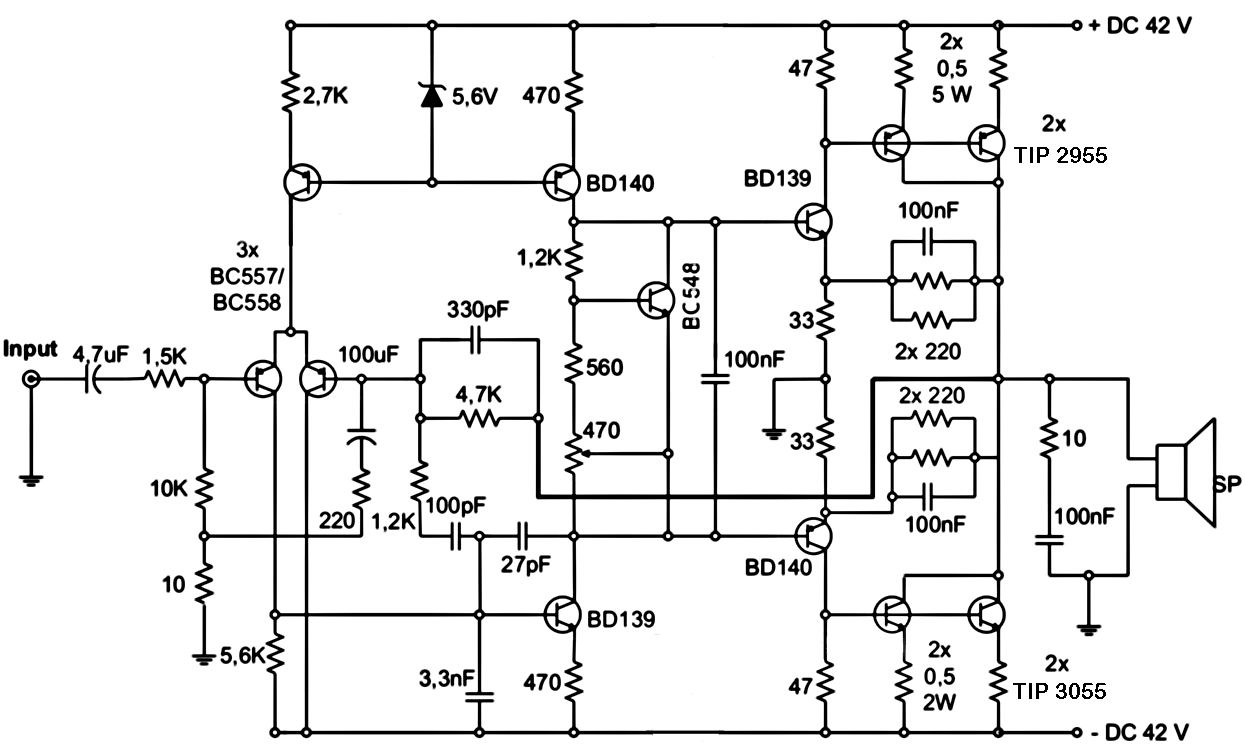 1000 watts amplifier circuit diagram pdf