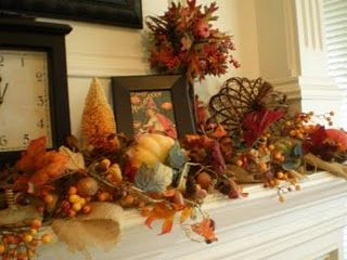 Fall Mantle http://thestylesisters.blogspot.com/2009/09/decorating-fireplace-mantel-for-fall.html