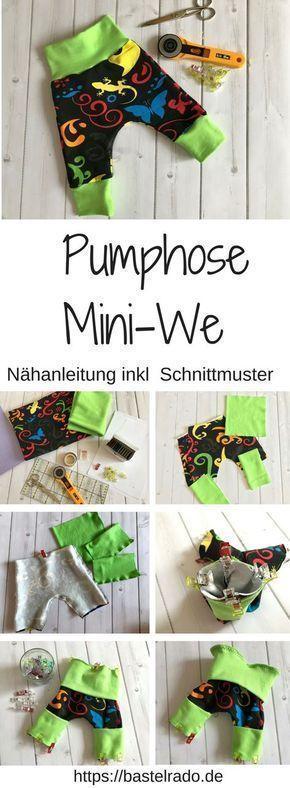 Pumphose Mini-We – Nähanleitung inkl. Schnittmuster » BASTELRADO