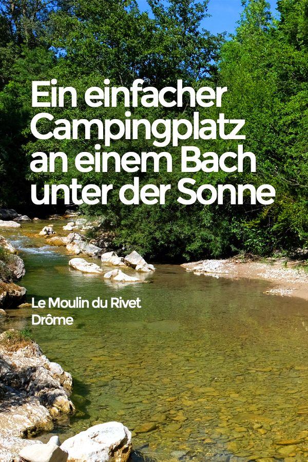 Ein einfacher Campingplatz an einem Bach unter der Sonne #projekteimfreien