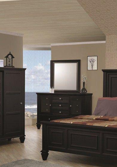 Coaster Furniture Sandy Beach Black Dresser Mirror Dressers