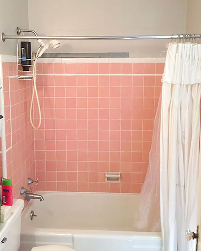 Modern Bathroom Update Before After Small Bathroom Tile - Before and after bathroom updates
