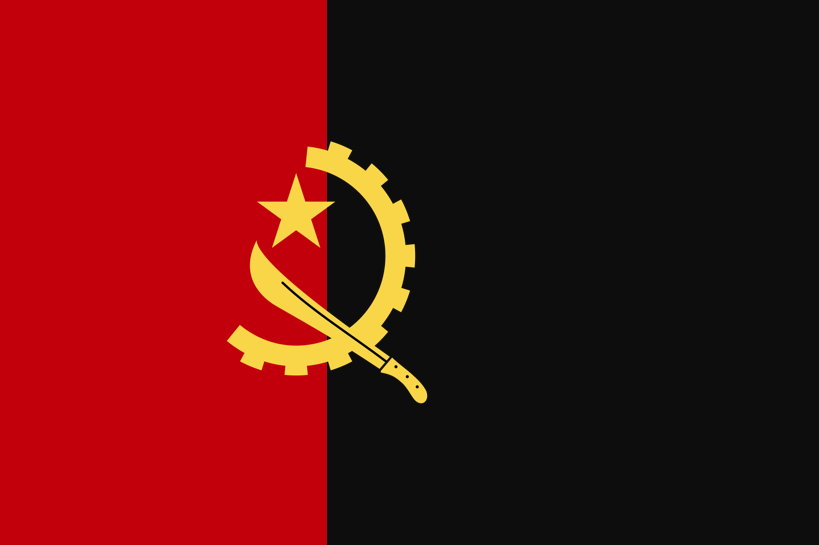 Angola Flag In Portugal Style Angola Flag Flag Angola