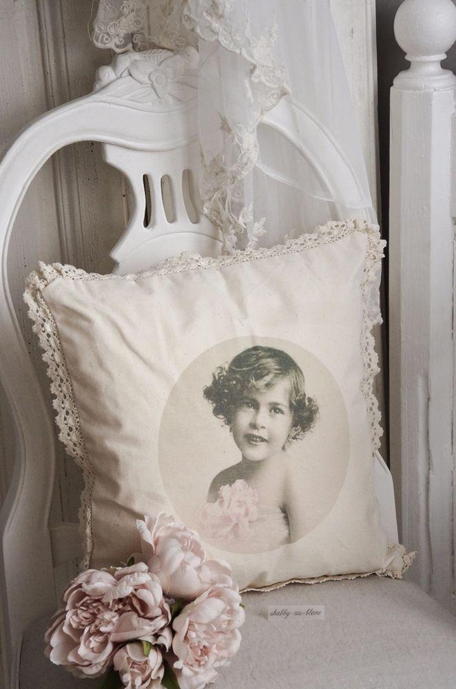 Kissenbezug Kind Mädchen Vintage Nostalgie Weihnachten Shabby Chic Landhaus  | Möbel U0026 Wohnen, Dekoration,
