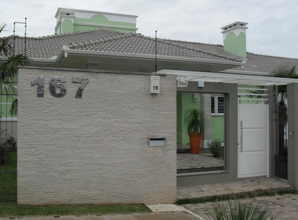 Muros de casas 590 435 casa pinterest for Frente casa moderna