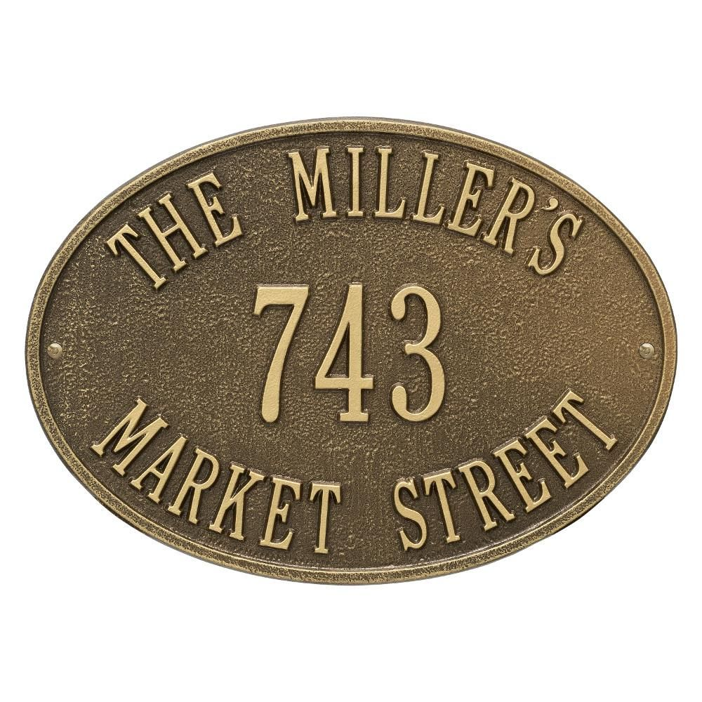 Hawthorne oval personalized plaque2918ab address plaque