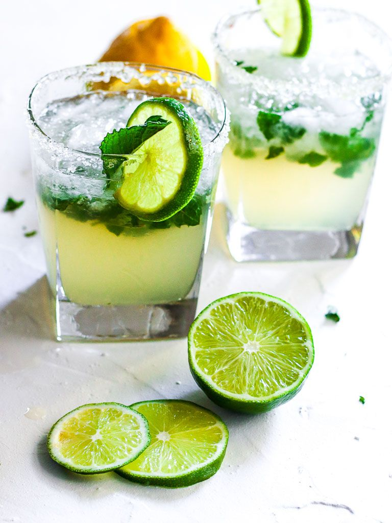 Tequila Smash With Lemon Lime And Mint Cocktail Recipes Easy Mint Cocktail Recipe Mint Cocktails