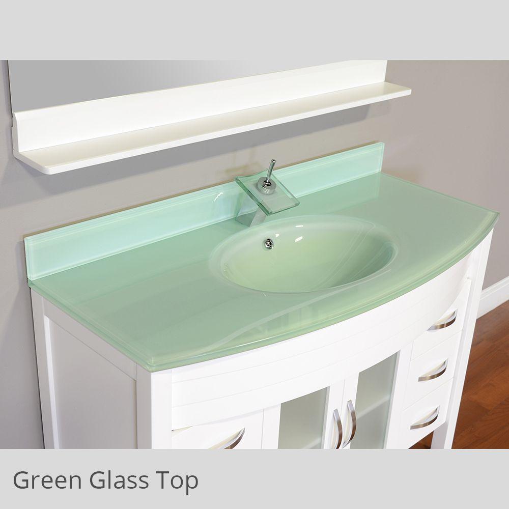 Alya bath elite collection aww single modern bathroom vanity