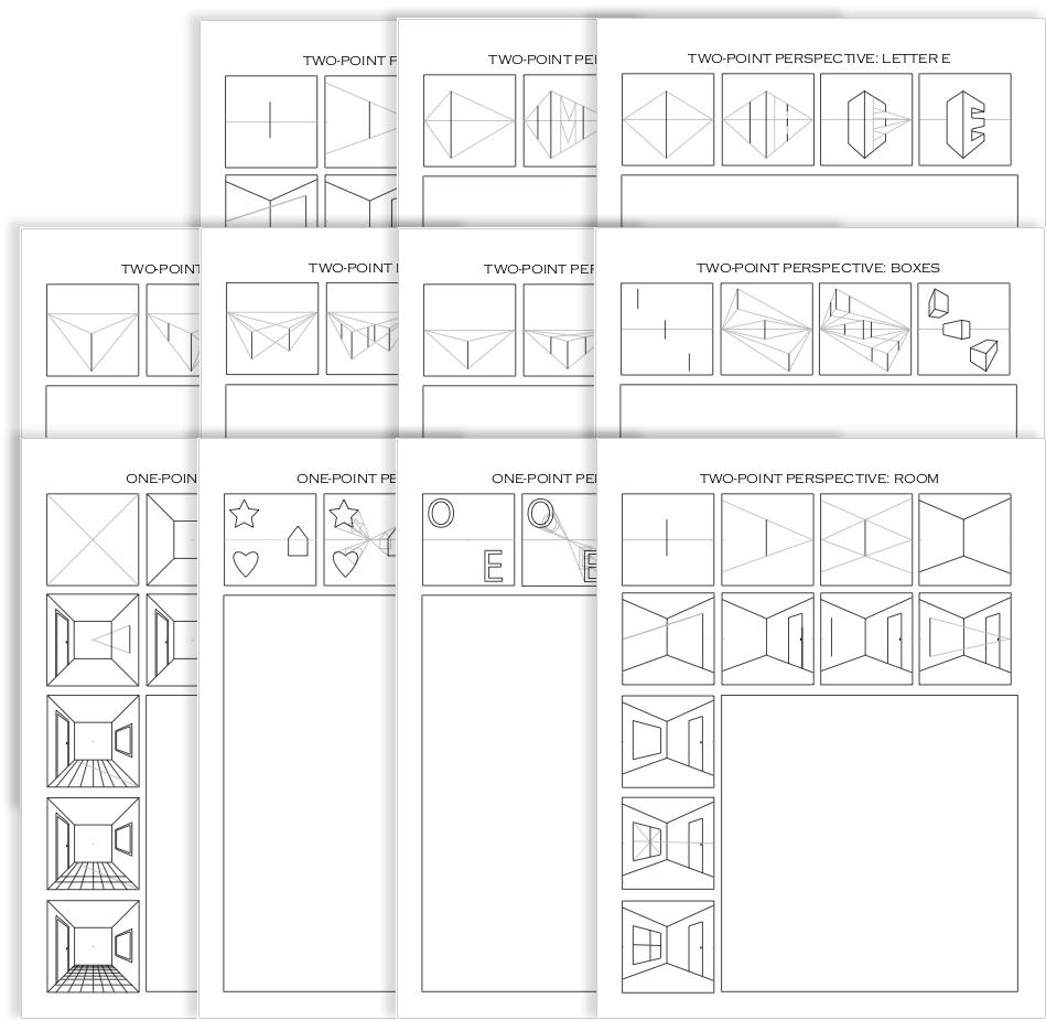 Drawing Perspective 11Worksheet Bundle in 2020