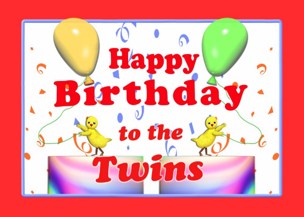 Happy Birthday Twins Images