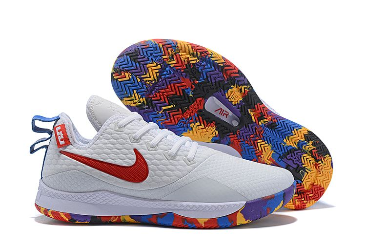 "low priced bc2f0 c8cc0 Nike Lebron Witness 3 ""March Madness"" White Multi-Color"