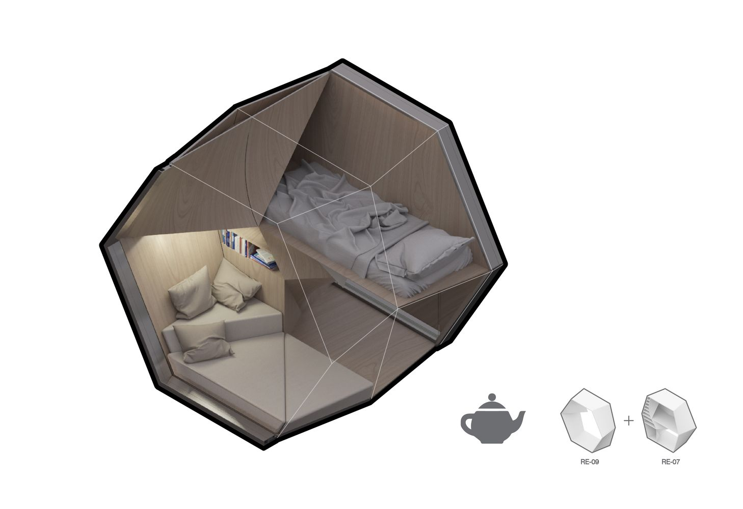 Gallery Of 3d Printed Hexagonal Pods Could House New York City S Homeless 3 Homeless Shelter Design Shelter Design Affordable Interior Design