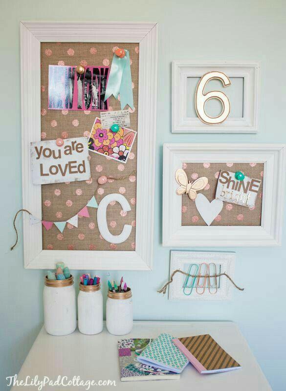 Bulletin Board Inspiration Room decor Pinterest Habitaciones