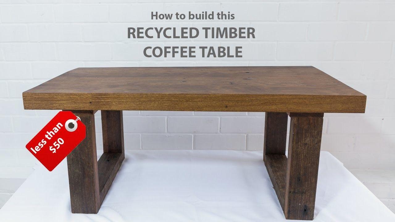 easy diy modern coffee table using
