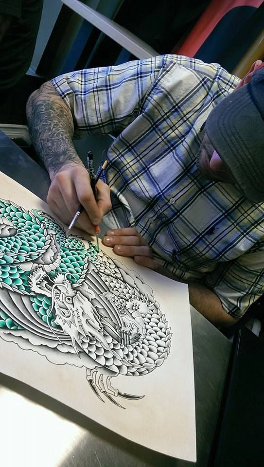 This Dragon Is Starting To Come To Life With Colors From Our