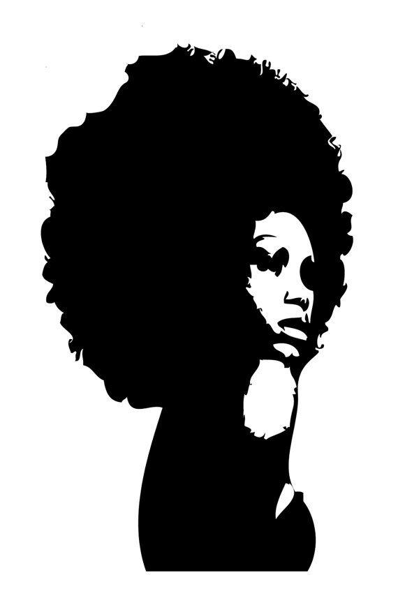 wall sticker afro womanconsciouscustoms on etsy, $25.00 | wall