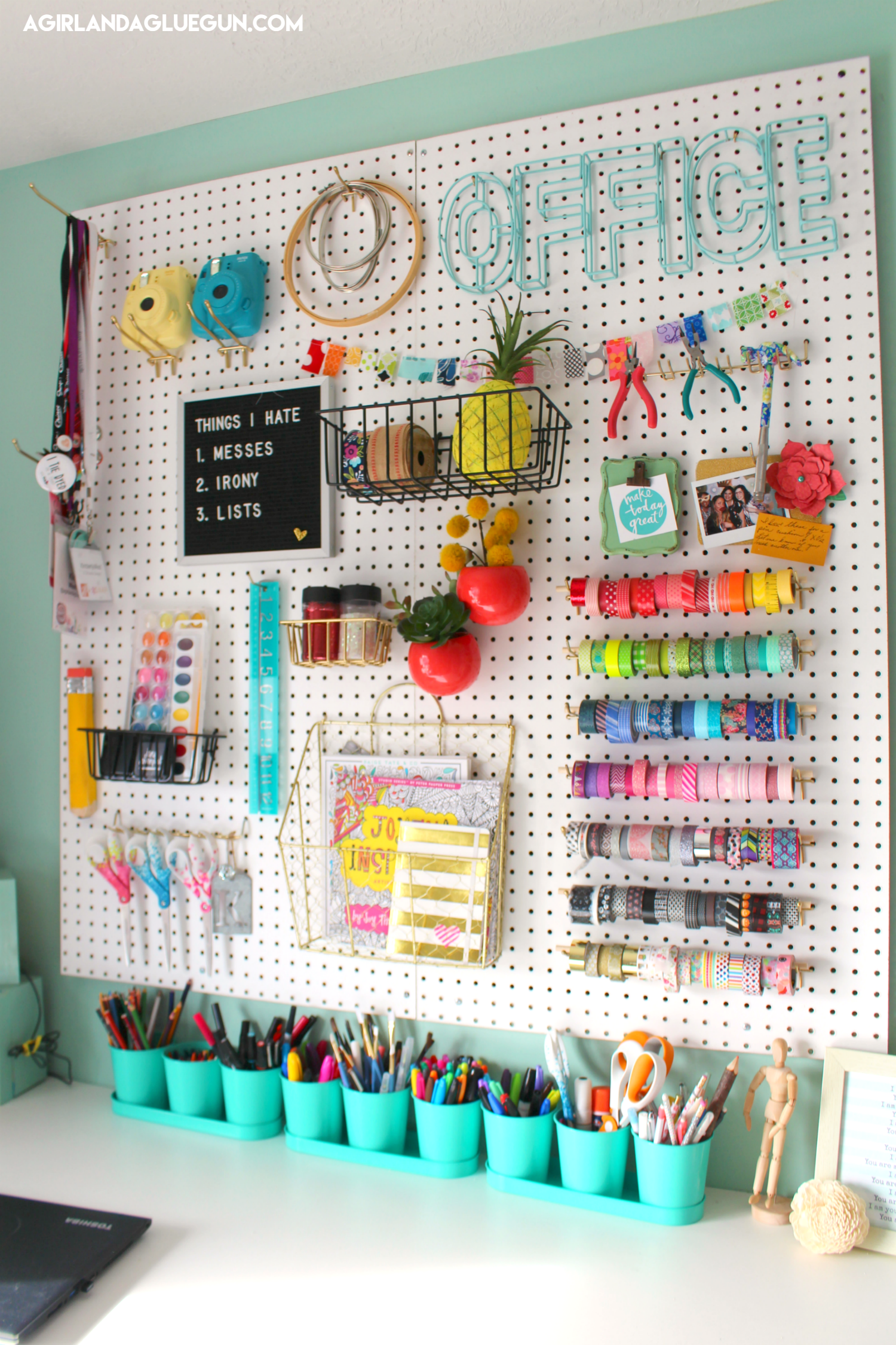 You Got To See My Peg Board Organization Here And I Ve Since Been Seeing Pegboards Everywhere So Many Amazin Craft Room Office Craft Room Storage Craft Room