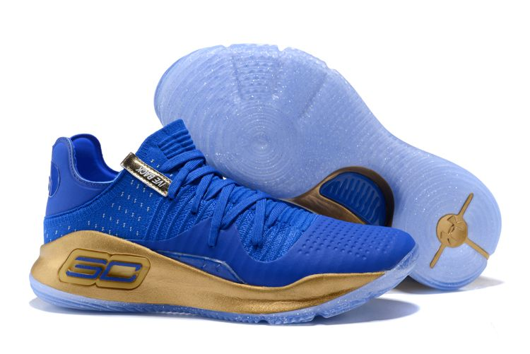 26f15f396d66 2017 Under Armour Curry 4 Low Royal Blue Gold in 2019