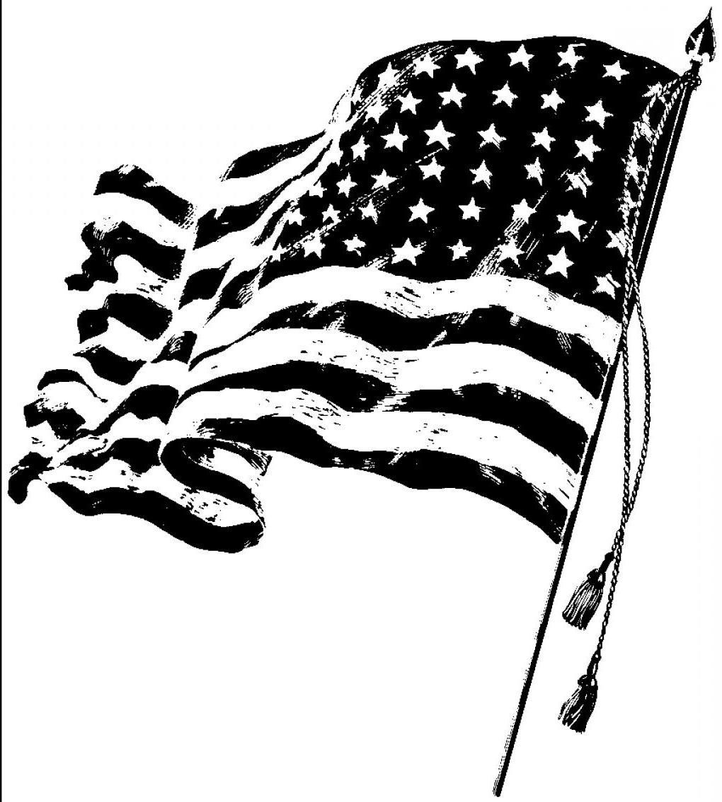 American Flag Clipart Black And White Images In 2021 Clipart Black And White American Flag Clip Art Black And White Images