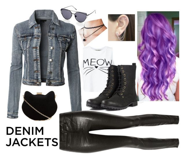 """Denim jacket"" by zazzywhitelion ❤ liked on Polyvore featuring LE3NO, J Brand, Miss Selfridge, New Look, Otis Jaxon, denimjackets and WardrobeStaples"