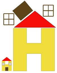 h for house printable letter activity more