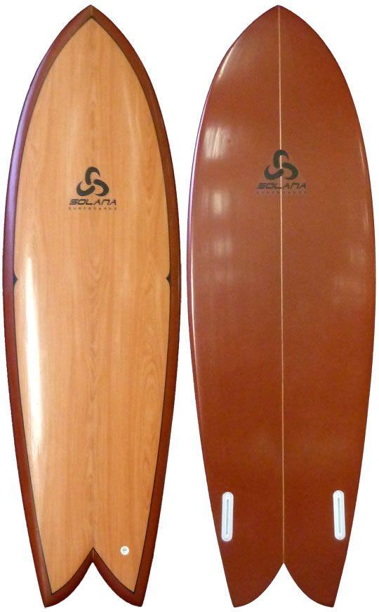 Classic Wood Retro Fish Surfboard Surf Pinterest