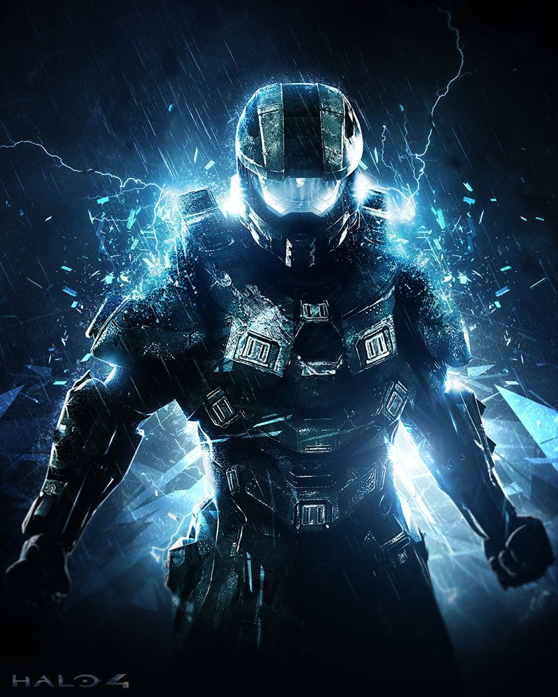 """HALO 4 XBOX VIDEO GAME POSTER MASTER CHIEF SPARTAN 24/""""X36/"""" NEW"""