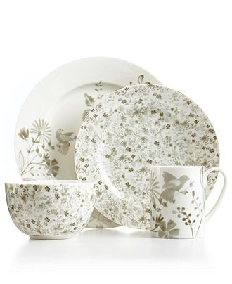 Martha Stewart Collection Dinnerware Song Meadow 4 Piece Place