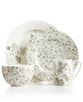 Martha Stewart Collection Whiteware Set Of 4 Pierced Dessert