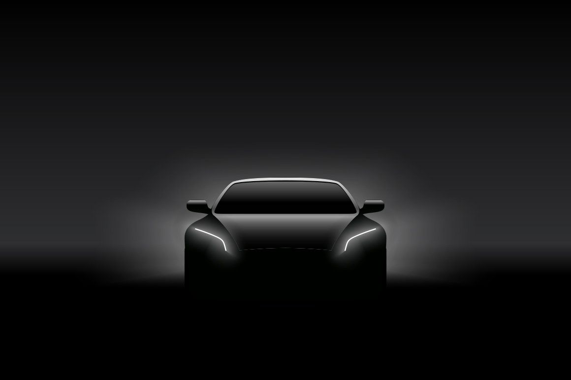 Front view concept car silhouette car silhouette