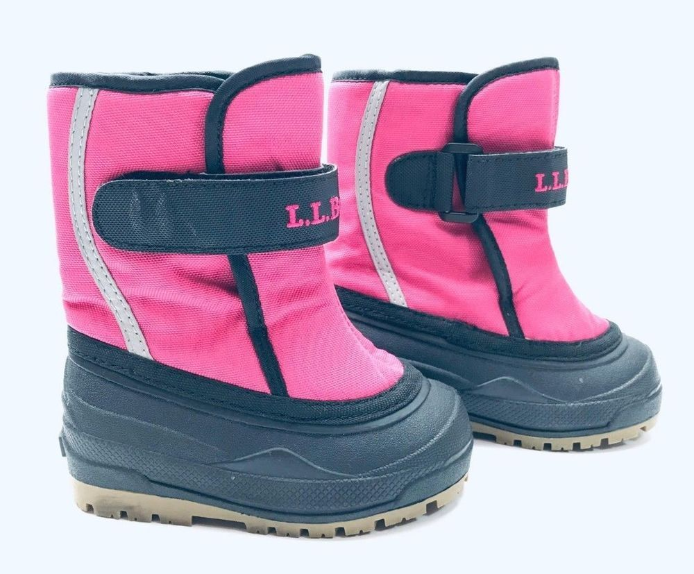 LL Bean Toddlers Pink Snow Boots Size 6