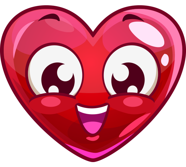 Smiling Heart Face Facebook Symbol Hearts Pinterest Heart Face
