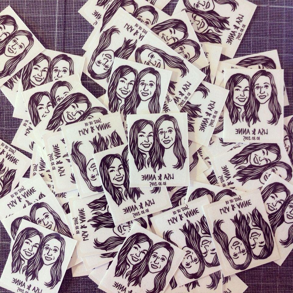 Custom Face Tattoo @lilimandrill www.lilimandrill.fr #etsy #EtsyGifts #EtsySuccess #etsywedding #wedding #mariage #bride #diy #couple #stamp #rubberstamp #shopsmall #handmade #gift #tattoo #temporarytattoo #favor #weddingfavor #etsymatch #etsylove #engagement #bridesmaid