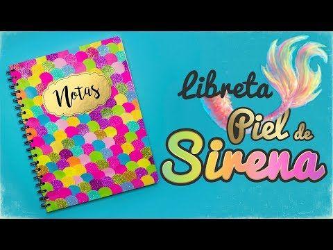 DIY: Libreta de PIEL de SIRENA - REGRESO A CLASES - YouTube