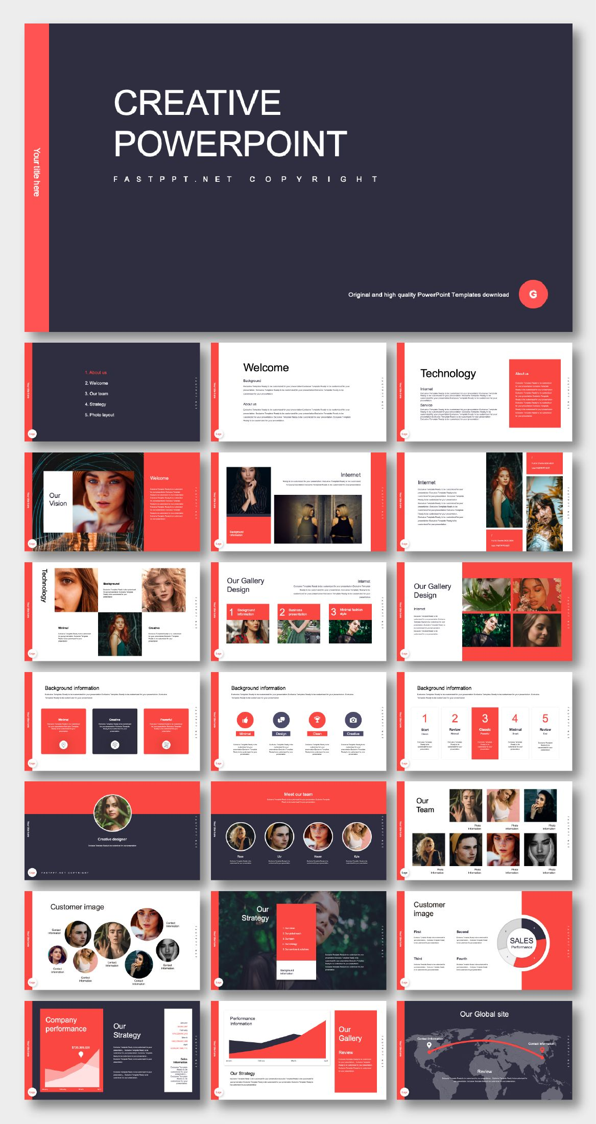 Business Plan Red Theme Presentation Template